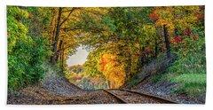 Nature's Tunnel Beach Towel