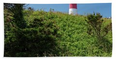 Nauset Lighthouse With Daisies Cape Cod Beach Sheet