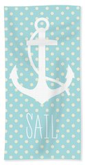 Nautical Anchor Beach Towel