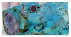Beach Sheet featuring the photograph Nautical Beach And Fish #1 by Debra and Dave Vanderlaan
