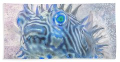 Beach Sheet featuring the photograph Nautical Beach And Fish #12 by Debra and Dave Vanderlaan