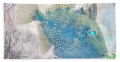 Beach Sheet featuring the photograph Nautical Beach And Fish #2 by Debra and Dave Vanderlaan