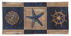 Nautical Burlap Beach Towel