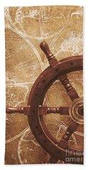 Nautical Exploration  Beach Towel