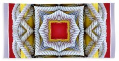 Nautical Knots Kaleidoscope Beach Towel by Francesa Miller