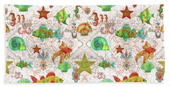 Beach Sheet featuring the painting Nautical Treasures-r by Jean Plout