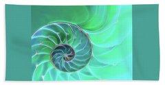 Nautilus Aqua Spiral Beach Towel