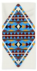 Navajo Blue Pattern Art Beach Towel