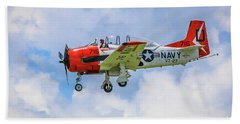 Beach Towel featuring the photograph Navy Trainer #2 by Tom Claud