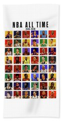 Nba All Times Beach Towel by Semih Yurdabak