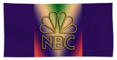 Beach Sheet featuring the digital art N B C Logo - Chuck Staley by Chuck Staley
