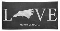 Nc Love Beach Towel by Nancy Ingersoll