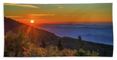 Nc Mountain Sunrise Blue Ridge Mountains Beach Towel