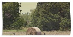 Nebraska Farm Life - Hay Bail Beach Sheet