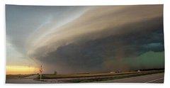 Nebraska Thunderstorm Eye Candy 026 Beach Towel