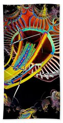 Needle In Fractal 2 Beach Towel by Tim Allen