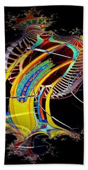 Needle In Fractal 4 Beach Towel by Tim Allen