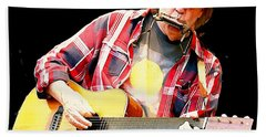 Neil Young Beach Towel by John Malone