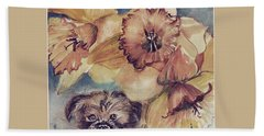 Beach Towel featuring the painting Nellie Mae by Mindy Newman
