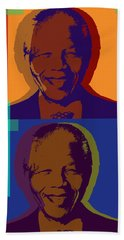 Nelson Mandela Pop Art Beach Towel