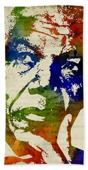 Nelson Mandela Watercolor Beach Towel