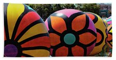 Beach Towel featuring the photograph Neon Balls Of Macarthur Park by Lorraine Devon Wilke