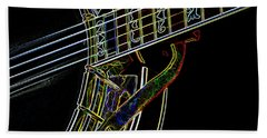 Beach Towel featuring the photograph Neon Banjo  by Wilma Birdwell