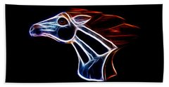 Neon Bronco II Beach Towel