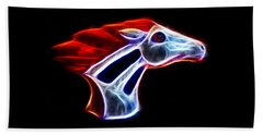 Neon Bronco Beach Towel