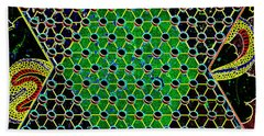 Neon Chinese Checkers Beach Towel by Paul W Faust - Impressions of Light