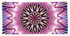 Beach Towel featuring the digital art Neon Explosion by Shawna Rowe