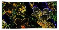 Neon Flowers Beach Sheet