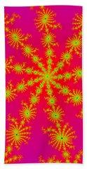 Neon Fractals Beach Sheet