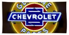 Neon Genuine Chevrolet Parts Sign Beach Sheet