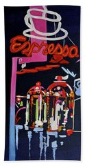 Neon Glow,brass N Copper Expresso Bar Beach Towel