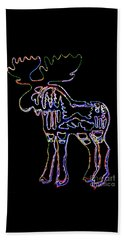 Neon Moose Beach Towel by Larry Campbell