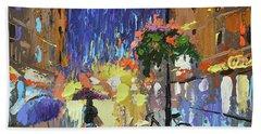 Neon Rain Beach Sheet