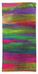Neon Rainbow Beach Towel