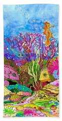 Neon Sea Beach Towel by Adria Trail
