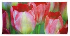 Neon Tulips Beach Towel by Patricia Strand
