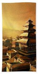Nepal Temple Beach Sheet