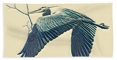 Nesting Heron Beach Towel