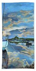 Nestled In For The Night At Mylor Bridge - Cornwall Uk - Sailboat  Beach Towel