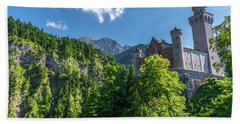Beach Towel featuring the photograph Neuschwanstein Castle by David Morefield