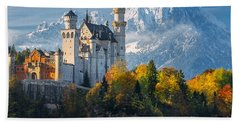 Neuschwanstein Castle In Bavaria Beach Sheet