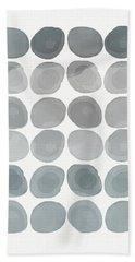 Neutral Stones- Art By Linda Woods Beach Towel by Linda Woods