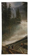 Beach Towel featuring the photograph Nevada Falls Yosemite                                by John Stephens