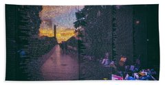 Beach Towel featuring the photograph Never Forget by Edward Kreis