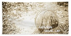 Never Give Up Hebrews Chapter 11 Beach Towel