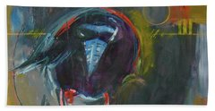 Beach Towel featuring the painting Nevermore by Ron Stephens